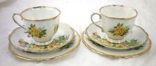 "Teacup Saucer Bread & Butter Trio 6 1/4"" Tea Rose Royal Albert England China"