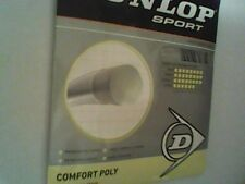NEW Dunlop Comfort Poly 17 G Guage 125 Tennis String Silver Grey 40 Ft Set