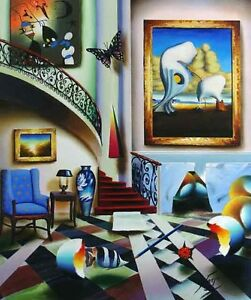 """Surrealistic Stairway"" by Ferjo - Limited Edition, Giclee on canvas!"