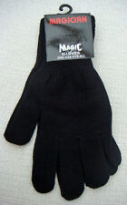 ONE PAIR BLACK ACRYLIC MAGIC GLOVES - ONE SIZE FITS ALL
