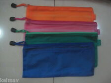 Lot of 6 Plastic Cosmetic Multipurpose Envelope Pouch Bag Toiletry Organizer