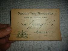 Ancienne Carte Commerciale GRAND VIN MOUSSEUX Royal England CHACé De Jessy & Cie