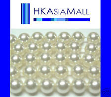 50pcs Swarovski Crystal Beads Pearl 5810 6mm lot WHITE