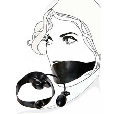 Inflatable Latex Gummi Rubber Butterfly Mouth Gag on belt (optional colors) BDSM