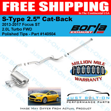 Borla 140504 2013-2017 Ford Focus ST S-Type Cat-Back Exhaust Touring In-Stock