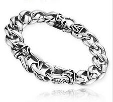 """Stainless Steel Link-Chain Bracelet 8.66"""" New arrival Men's Vintage Jewelry"""