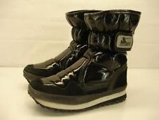 womens 6.5 37 Rubber Duck Snowjoggers black winter boots fleece lined waterproof