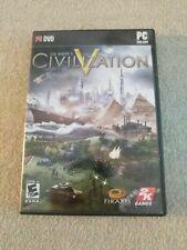 Sid Meier's Civilization V 5 (PC, 2010) - CIB - Map Manual and Key Included