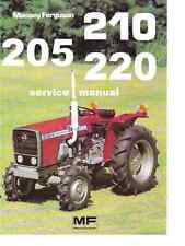 MASSEY FERGUSON MF 205 210 220 TRACTOR SERVICE MANUAL   for Overhaul & Repair