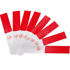 5x Safety Car Truck Warning Night Reflective Strip Tape Sticker Red&White 14*4cm