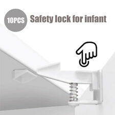 10 x Baby Child Pet Proof Cupboard Door Drawer Safety Spring Locks Catch New