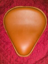 "ULTIMA LEATHER SOLO SEAT 9"" SMOOTH BROWN HARLEY SOFTAIL RIGID BOBBER"