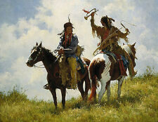 Howard Terpning THE TROPHY, Native American, Textured Canvas #620/650