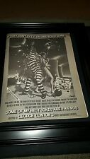 George Clinton Some Of My Best Jokes Are Friends Rare Promo Poster Ad Framed!