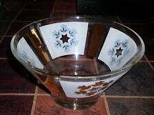 Anchor Hocking Star Pattern Clear Glass Large Chip or Salad Bowl