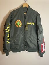 Bape A Bathing Ape x Keith Haring Light Weight Jacket Green Size M Rare MA-1