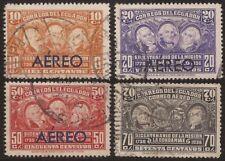 Ecuador A- 41/44 1936 Aéreo Bicentenario de La Misión de Condominas Usados