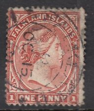 FALKLAND ISLANDS SG18, 1d red brown,  USED. Cat £80.