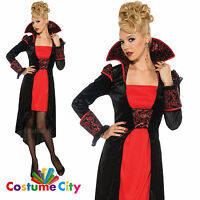 Adults Womens Gothic Vampire Countessa Fancy Dress Halloween Party Costume