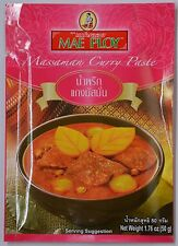 3 Packets Mae Ploy Massaman Curry Paste 50g. MSG Free