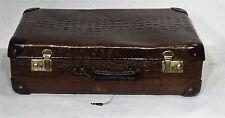 Antique suitcase shabby chic brauner Oldtimer Hartpappe Koffer Reisekoffer ~20er