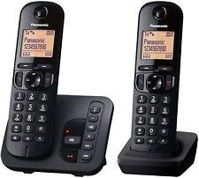 Panasonic KX-TGC222GB - Schurlos DECT Telefon Anrufbeantworter schwarz - TGC 222