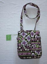 VERA BRADLEY Plum Petals Patterns Flap Crossbody Bag - NWOT