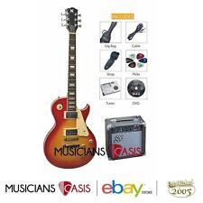 SX LP Electric Guitar & Amp Kit – Cherry Sunburst