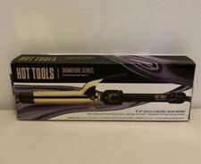 """New listing Hot Tools Professional Signature Series 1 1/4"""" Gold Curling Iron Wand"""