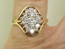 BEAUTIFUL 14K SOLID GOLD APPROX. 1/2 CTW SPARKLING DIAMOND RING! SZ 4.75
