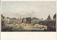 Alte Kunstpostkarte - Canaletto (B. Bellotto) - Der Zwingerhof in Dresden