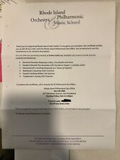 Rhode Island Philharmonic $50 gift certificate - Music School or Tickets