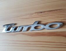 Silver Metal Chrome 3D TURBO Badge Sticker for JEEP Grand Cherokee Wrangler SUV