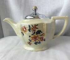 Royal Rochester Hand Decorated Royalite Teapot Fraunfelter China Ohio Luster