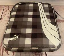 "Puma Zipper I Pad Tablet Case Cover Brown Plaid Padded 8.25"" x 10"" Heavy Duty"