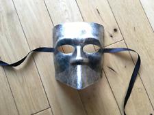Casanova / Bauta cast mask.Unisex..Masquerade /Ball /Prom.Silver. UK. LTD Stock.