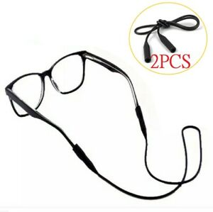 1/2 Glasses Silicone Strap Neck Cord Sunglasses Eyeglasses String Lanyard Holder