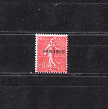 timbre France  Semeuse lignée 80c rouge surchargé spécimen  NUM: 203-CI 1  **