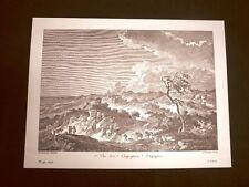 Rarissima veduta della campagna di Agrigento Sicilia Litografia Saint-Non