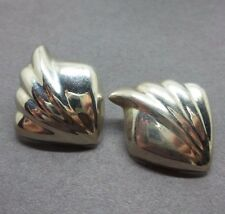 Vintage Sterling Silver Unique Squared Post Earrings ( Taxco Mexico )