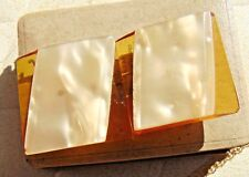 Antique Art Deco Honey Amber Bakelite & Celluloid Buckle