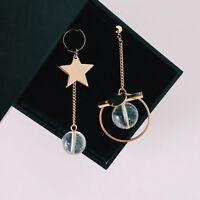 femmes soirée asymétrique étoile cercle pendentif boule Boucles d'oreilles Joli