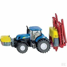 Siku New Holland Tractor With Crop Sprayer 1:87 Scale Model Gift Toy