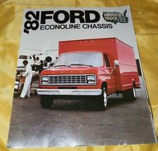 1982 Ford Econoline Chassis Brochure-Box Trucks, Ambulances, Campers and More!