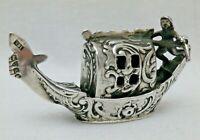 Miniature Antique  Cast Solid Sterling Silver Gondola Chester 1901
