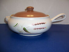 Denby Harvest Covered Casserole (2 Qt) Stick Handle Brown Lid A. College England