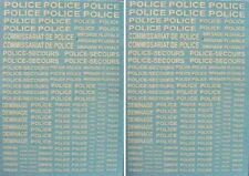 "2 DECALS MARQUAGE blanc "" POLICE Brigade fluviale Déminage "" - DECALCOMANIE 1/43"