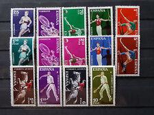 Sellos en español - 1960 Deportes (Inc aire) Conjunto de 14 sellos