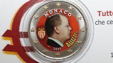 2 euro 2017 Monaco color farbe kleur cor couleur Монако Albert Allez As MONACO