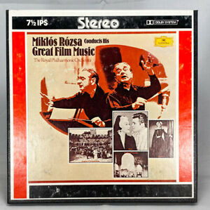 Miklos Rozsa Conducts His Great Film Music Reel to Reel Tape 7 1/2 IPS Dolby